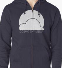 Cosmic Sky Media Logo (White) Zipped Hoodie