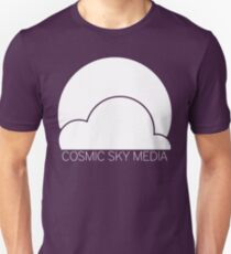 Cosmic Sky Media Logo (White) Unisex T-Shirt