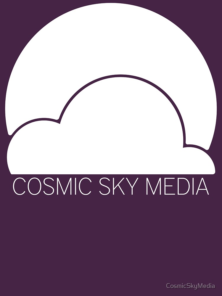 Cosmic Sky Media Logo (White) by CosmicSkyMedia