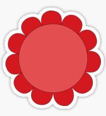 Pink Sunflower Graphic Design Sticker