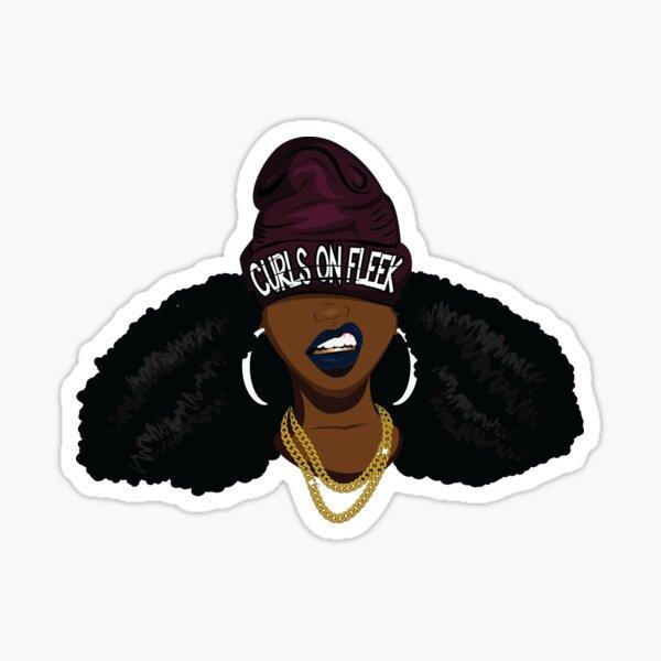 Curls on FLEEK Sticker