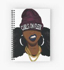 Curls on FLEEK Spiral Notebook
