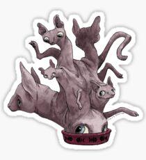 Hairless Mess Cat Monster Sticker