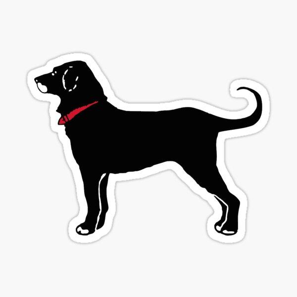 Le chien noir Sticker