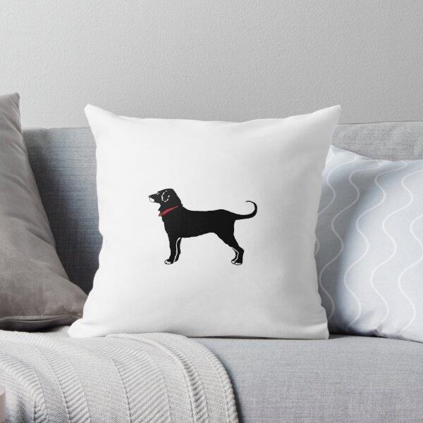 The Black Dog Throw Pillow