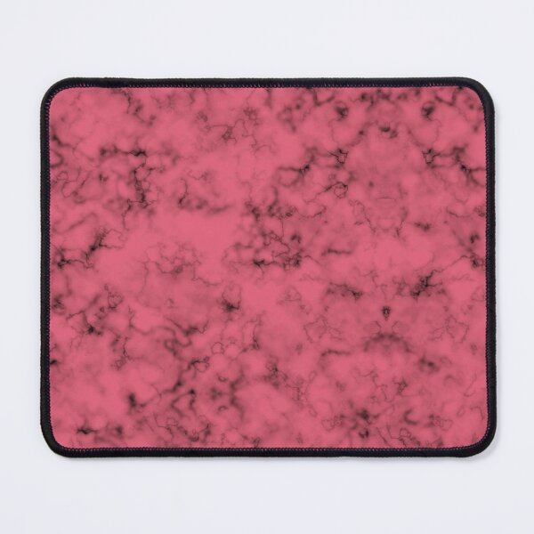 Pink And Black Smoke Marble Texture Mouse Pad