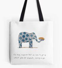 polka dot elephants, serving us pie Tote Bag