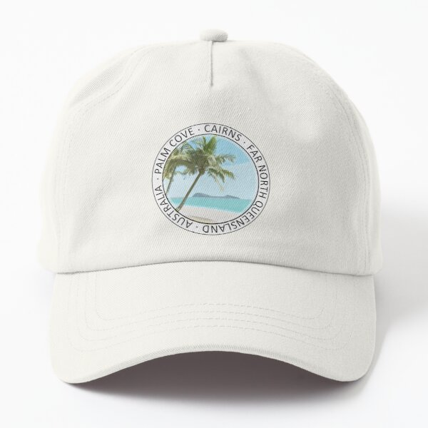 Palm Cove Art on Dad Hat