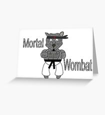 Mortal Wombat! Greeting Card