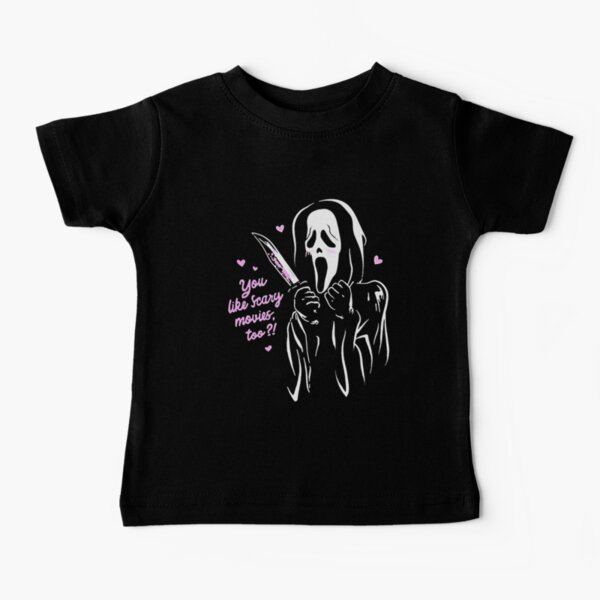 Ghost Face Scream You Like Scary Movies Too Boyfriend Baby T-Shirt