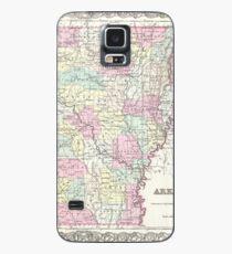 Vintage Map of Arkansas (1855)  Case/Skin for Samsung Galaxy