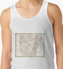 Vintage Map of Arkansas (1855)  Tank Top