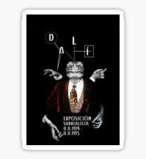 Salvador Dali Surreal Potrait  Sticker