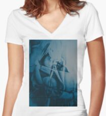 Lock me up inside, 2016, 50-70cm, graphite crayon on paper Women's Fitted V-Neck T-Shirt