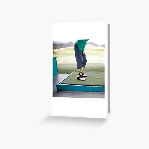 Golf Swing Greeting Card