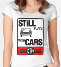 Still Plays with MG Cars Women's Fitted Scoop T-Shirt