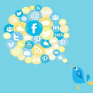 Social Media Twitter Bird by roastedseaweed