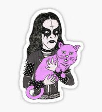 black metal cat Sticker