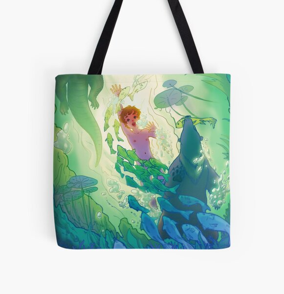 The Swamp Prince All Over Print Tote Bag