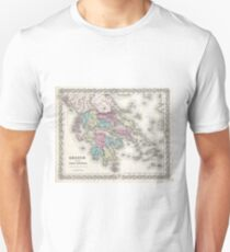 Vintage Map of Greece (1855)  Unisex T-Shirt