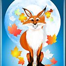 Fall Fox and Weir Wolf Moon by Lotacats