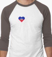 I Love My Hot Haitian Boyfriend Men's Baseball ¾ T-Shirt