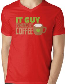 IT GUY powered by coffee Mens V-Neck T-Shirt