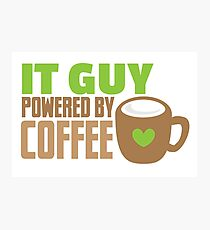 IT GUY powered by coffee Photographic Print
