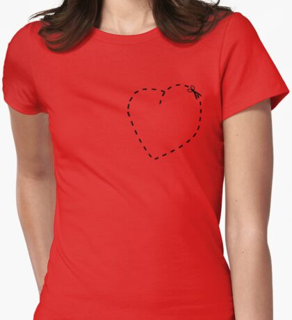 Love Heart Cool Cute Heart Funny Valentine T-Shirt