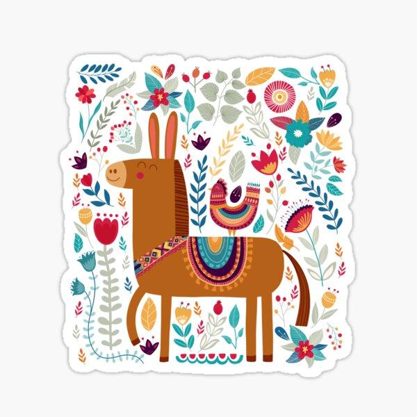 Folk Mule & Chicken Sticker