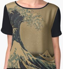 The great wave off shore of Kanagawa - Hokusai Katsushika - 1890 Chiffon Top