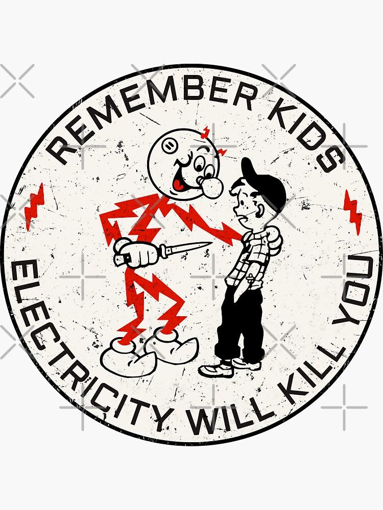 Reddy Kilowatt. Remember kids, electricity will kill you.  by reddy-k