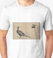 Swallows and pheasant - Utamaro Kitagawa - 1790 T-Shirt