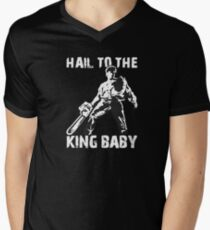 Hail to the King, Baby (Ash - Army of Darkness) Men's V-Neck T-Shirt