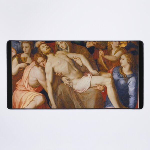 Agnolo Bronzino - The Deposition of Christ Desk Mat