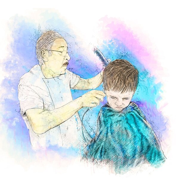 The Haircut by Richard Rabassa