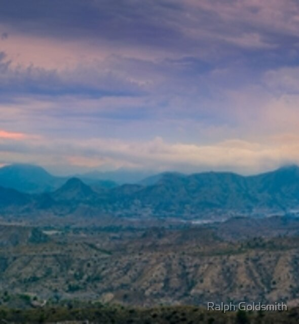 Cloudy sunset mountain view panorama by Ralph Goldsmith
