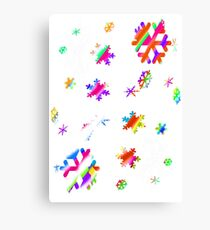 Colorful snow flake WOW! Canvas Print