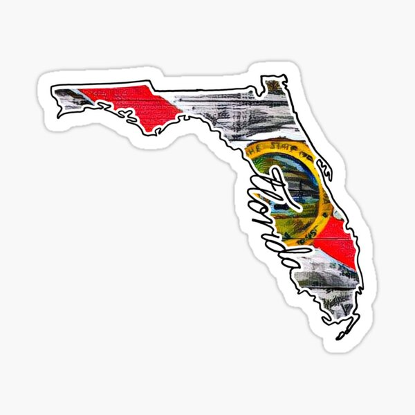 State of Florida Flag Sticker