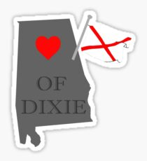 Heart of Dixie Alabama Sticker