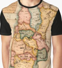 Map Of The Holy Land 1815 Graphic T-Shirt