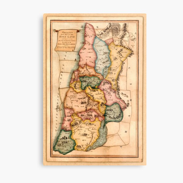 Map Of The Holy Land 1815 Metal Print
