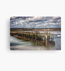 The End Of The Jetty Metal Print