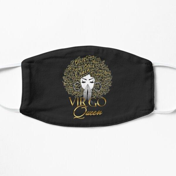 Black Queen Typography Natural Hair Virgo Birthday 2021  Flat Mask