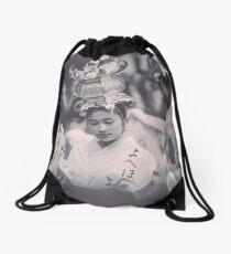 Surrounded Drawstring Bag