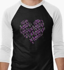 Cool Heart - Crazy Love Valentine Heart T-Shirt Men's Baseball ¾ T-Shirt