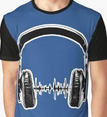 Headphones - Black Graphic T-Shirt