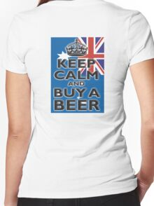 AUSTRAILIA, AUSTRALIAN, KEEP CALM, BUY A BEER, AUSSIE Women's Fitted V-Neck T-Shirt