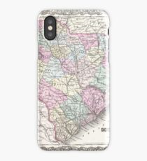 Vintage Map of South Carolina (1855) iPhone Case