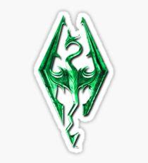Skyrim Green Glass Sticker